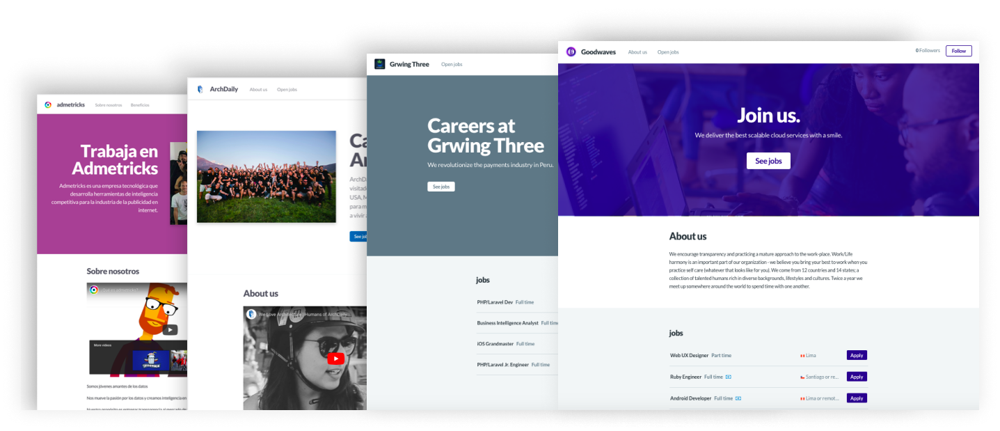 Careers sites